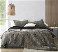 Machine Washable Twin, Queen, or King Extra Large Bedding Set Holy Black and Tan Unique Twin, Queen, or King Oversized Bedspread