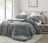 Cozy Twin Extra Large Comforter Insert Covered with Ultra Plush XL Twin Duvet Cover with Knitted Hole Pattern