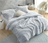 Ultra Plush Coma Inducer Peak of Cozy Chevron Frosted Gray Super Soft Twin, Queen, or King Extra Large Bedding Set
