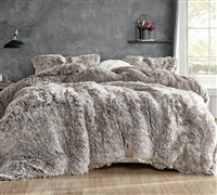 Ultra Luxury Plush Are You Kidding Frosted Chocolate Brown King Extra Large Comforter Made with Machine Washable Bedding Materials