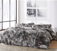 Are You Kidding - Coma Inducer Oversized Queen Comforter - Gray Tie-Dye