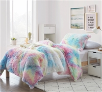 Unicorn Dreamz - Coma Inducer Oversized Twin Comforter - Buttercup Rainbow