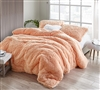 True Oversized Twin, Queen, or King Comforter Set Coma Inducer Winter Thick Extra Large Plush Bedding Peach Nectar