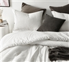 Pinstripe White Oversized King Comforter - 100% Yarn Dyed Cotton