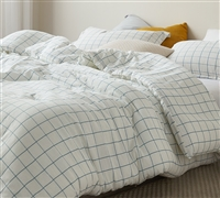 Urban Windowpane Oversized Comforter - 100% Yarn Dyed Cotton