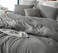 River Stone Oversized Comforter - 100% Yarn Dyed Cotton