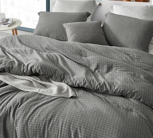 River Stone Oversized Twin Comforter - 100% Yarn Dyed Cotton