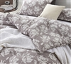 Gorgeous Dark Plum Watercolor Blossom Extra Large Twin, Queen, or King Designer Comforter Made with Machine Washable Bedding Materials