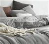 Shaded Gray Oversized Twin Comforter - 100% Yarn Dyed Cotton