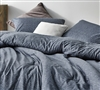 Interwoven Navy Oversized Queen Comforter - 100% Cotton