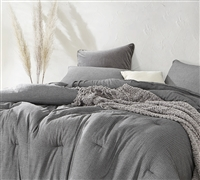Chainlink Carbon Oversized Queen Comforter - 100% Yarn Dyed Cotton