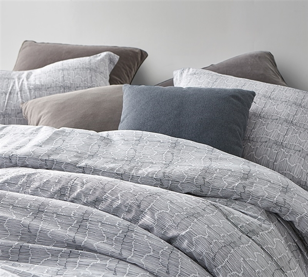 Unique Tectonic Oversized Twin, Queen, or King Designer Comforter with Included Pillow Shams