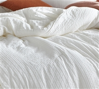 Extra Large King Textured Comforter Designer Angelic Cozy Cotton King Oversized Bedspread