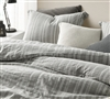 Charter Gray Oversized King Comforter - 100% Yarn Dyed Cotton