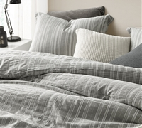 Charter Gray Oversized Comforter - 100% Yarn Dyed Cotton