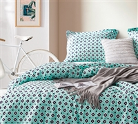 Eccentric Morgan Elyse Designer Twin, Queen, or King Oversized Bedspread with Colorful Design and Pattern