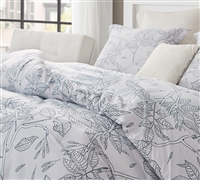 Flora Trace Oversized Queen Comforter - 100% Cotton