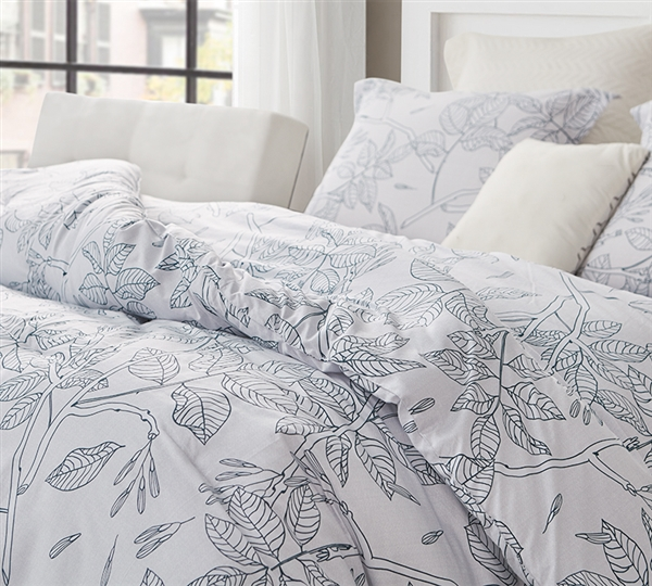 Flora Trace Oversized Twin Comforter - 100% Cotton