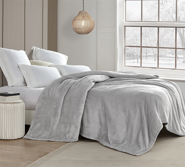 Coma Inducer Full Blanket - Wait Oh What - Tundra Gray