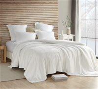 Ultra Plush Twin XL, Full, Queen, or King Off White Bedding Blanket Wait Oh What Coma Inducer Farmhouse White
