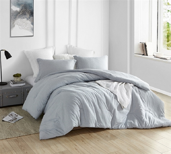 Natural Loft Comforter - Yarn Dyed Blue - Oversized Bedding
