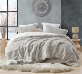 Insanely Cozy Twin XL Comforter and Pillow Sham Set Plush Coma Inducer Chunky Bunny Stone Taupe Oversized Twin Bedding