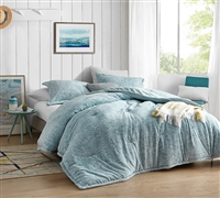 Twin, Queen, or King Extra Large Comforter Set Smoke Blue Streaker Coma Inducer Ultra Soft Oversized Bedding