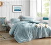 Softest Plush Comforter for Queen Sized Bed Streaker Coma Inducer Smoke Blue Oversized Queen Bedding