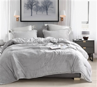 Plush Twin XL, Queen XL, or King XL Comforter Wait Oh What Coma Inducer Ultra Cozy Tundra Gray Oversized Bedding