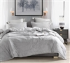 Easy to Match Light Gray Oversized Twin XL Comforter with Warm Luxury Plush and Thick Inner Fill