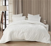 Coma Inducer Oversized Comforter - Wait Oh What - Farmhouse White