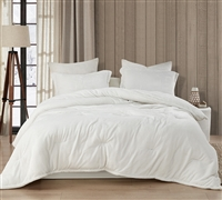 Coma Inducer Oversized King Comforter - Wait Oh What - Farmhouse White