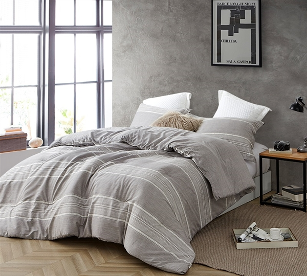 Oversized Twin, Queen, or King Comforter Set Designer Greyson Gray XL Twin, XL Queen, or XL King Bedding