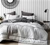 Black and White Twin, Queen, or King Extra Large Comforter Set Kappel Black and White Stripes XL Twin, XL Queen, or XL King Bedding