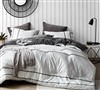 Designer King Extra Large Bedding Kappel Oversized King Comforter with Black and White Stripes