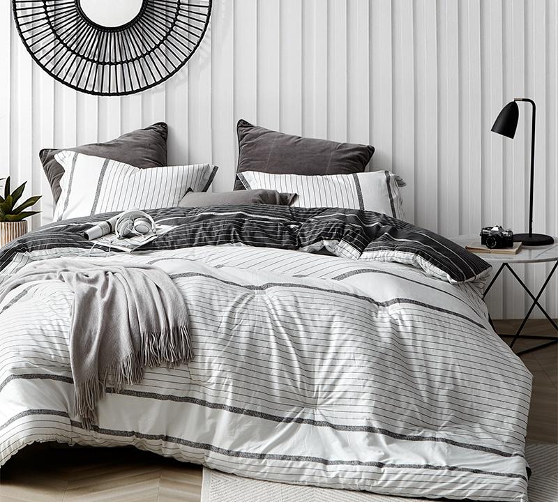 True Oversized King Comforter Designer Kappel Black and White