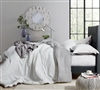 Black and White Extra Large Twin Comforter Set Stylish Designer The Landon XL Twin Bedding with Black Striped Design