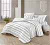 One of a Kind Designer Twin XL, Queen XL, or King XL Comforter Stylish Arrow Black and White Oversized Bedding