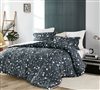 XL Twin, XL Queen, or XL King Bedding Set Beautiful Dark Blue Midnight Moxie Vines Oversized Twin, Queen, or King Comforter