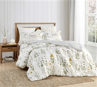 Nature Inspired XL Queen Bedding Decor Country Days Designer Queen Oversized Comforter with Matching Shams