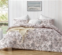 Extra Large Twin, Queen, or King Comforter Designer Wildbloom Soft Microfiber Twin XL, Queen XL, or King XL Bedding with Floral Pattern