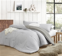Flyin Home Farmhouse Gray Oversized Comforter - 100% Cotton