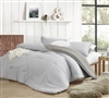 Oversized Twin XL Designer Comforter Set Stylish Farmhouse Gray Flyin Home Cozy Cotton Extra Large Twin Bedding
