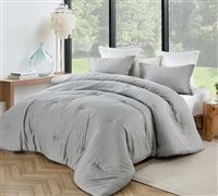 Gray Queen XL Comforter Set Stylish Gray Jager Diamond Patterned Oversized Queen Bedding