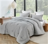 Easy to Match Oversized Gray Twin XL Designer Comforter for Extra Large Twin Bedding Set