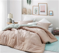 Rustic Pink Twin XL Comforter with Black Grid Pattern Siesta Calm Designer Twin Extra Large Bedding