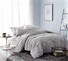 Soft Yarn Dyed Cotton XL King Bedding Macha Designer King Oversize Bedding with Subtle Stripe Pattern