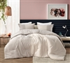 Unique Design Gray and Cream Oversized Soft Cotton Comforter for Plush Twin XL, Queen XL, and King XL Bedding