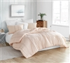 Fashionable Subtle Orange and Gray Striped Bedding with Super Plush Cotton for your Oversized Twin XL, Queen XL, or King XL Bed