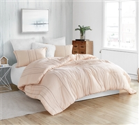 Creme De La Yarn Dyed Oversized Twin Comforter - 100% Cotton